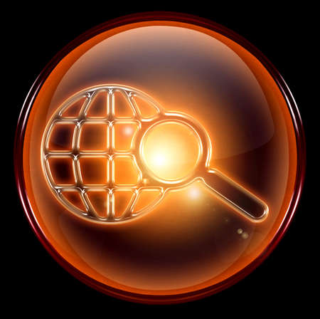 clearer: Search and magnifier icon. Stock Photo