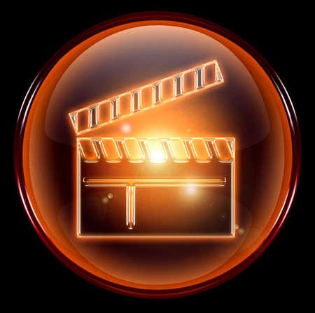 movie clapper board icon. photo