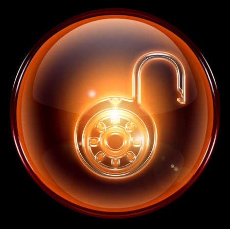 secured: Lock on, icon.