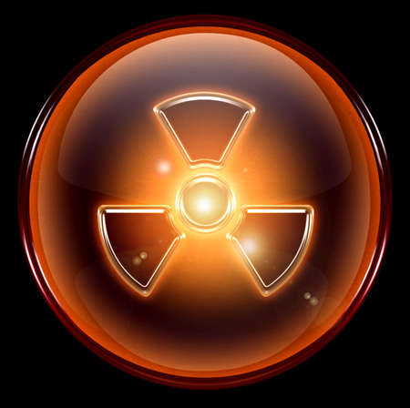 harmful to the environment: Radioactive icon