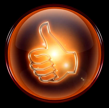 thumb up icon, approval Hand Gesture Stock Photo - 1156358