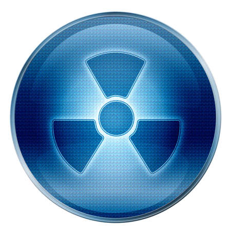 caution chemistry: Radioactive icon Stock Photo