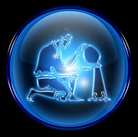 virgo: Aquarius zodiac bot�n icono