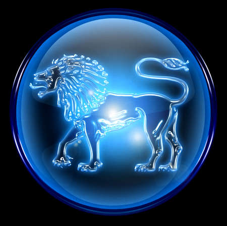 pisces star: Lion zodiac button icon