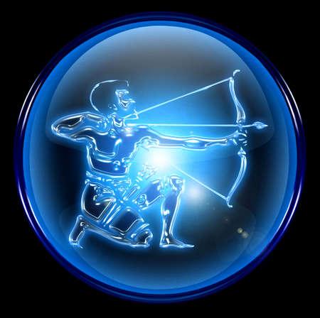 escorpio: Sagitario Zodiaco bot�n de icono  Foto de archivo