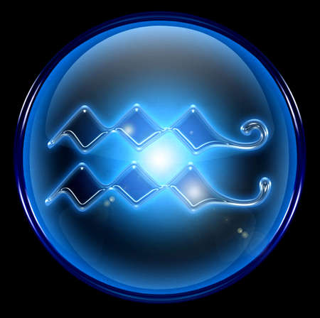 Aquarius zodiac button icon