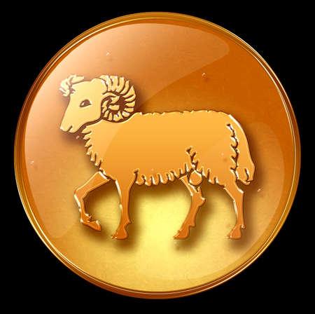 astrology sign: Aries zodiac button icon