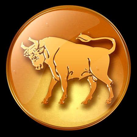 aquarius: Taurus zodiac button icon