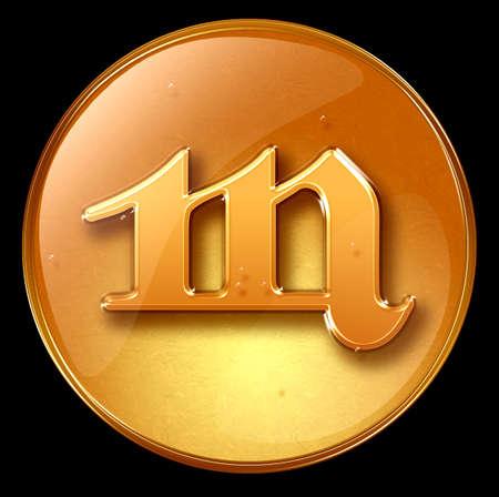 Scorpio zodiac button icon Stock Photo - 1228935