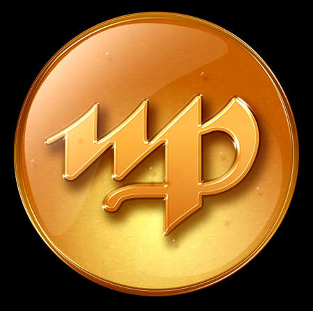 Virgo zodiac button icon photo