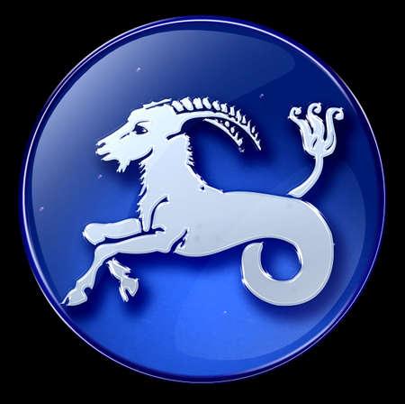 capricornio: Capricornio Zodiaco bot�n  Foto de archivo