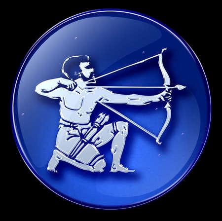 Sagittarius zodiac button icon photo