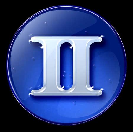 Gemini zodiac button icon  photo