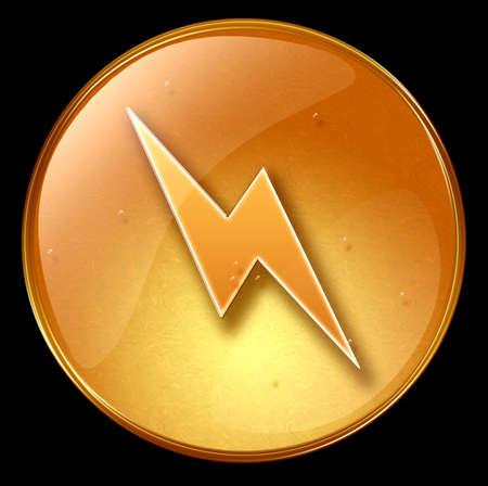 Lightning icon, isolated on black background Stock Photo - 1796647
