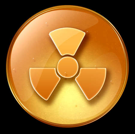 Radioactive icon, isolated on black background Stock Photo - 1796644