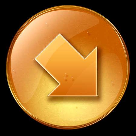 upward movements: Arrow icon, isolated on black background Stock Photo
