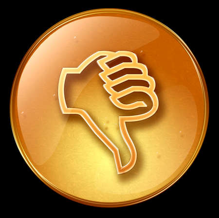 ineffective: thumb down icon, isolated on black background
