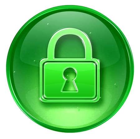 coded: Lock icon, isolated on white background.