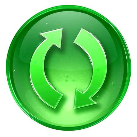 Refresh icon, isolated on white background. Stock Photo - 1849727