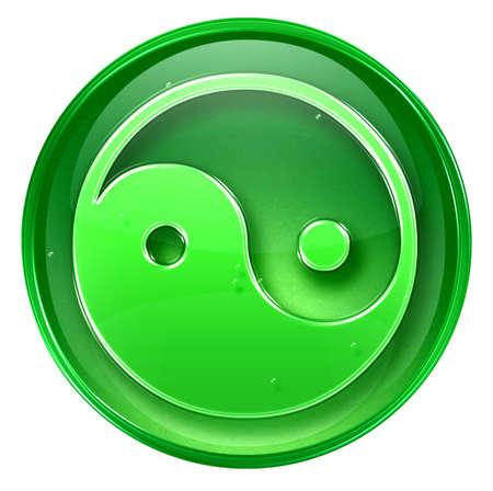 yin yang symbol icon, isolated on white background. photo