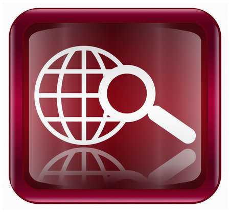 searchengine: search and magnifier icon, isolated on white background