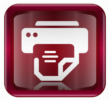printer icon, isolated on white background photo