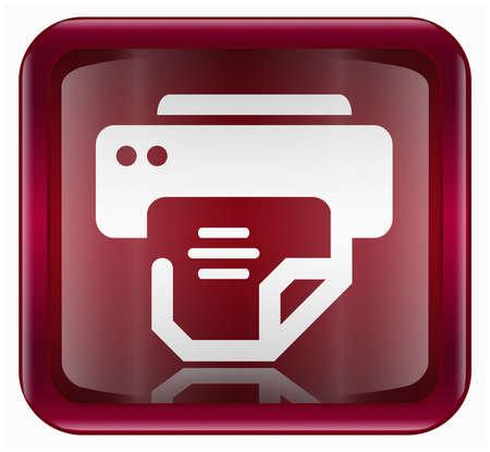 photo hardware: printer icon, isolated on white background Stock Photo