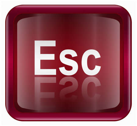 esc: Esc icon, isolated on white background