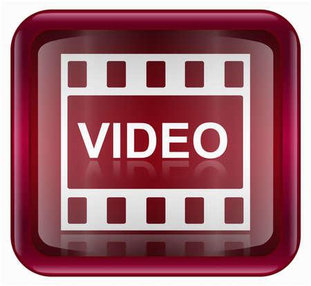 rec: Film icona rossa, isolata su sfondo bianco