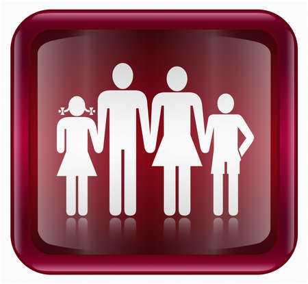 watercloset: people icon, red, isolated on white background Stock Photo
