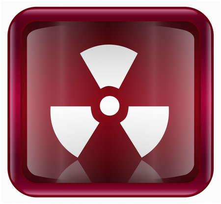 Radioactive icon, red, isolated on white background Stock Photo - 2196496