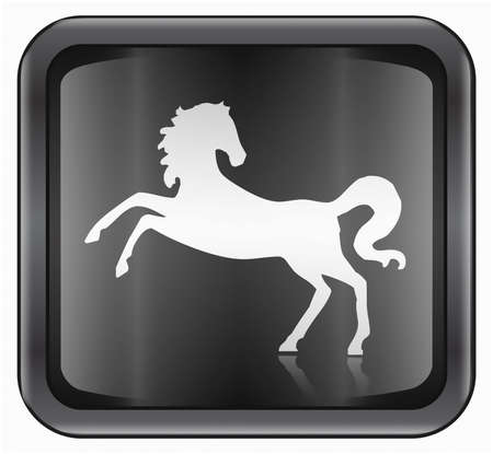 fortunetelling: Horse Zodiac icon, isolated on white background.