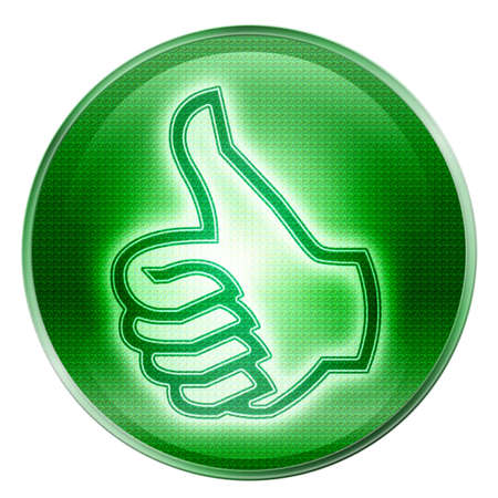 thumb up icon, approval Hand Gesture, isolated on white background. Stock Photo - 2455533