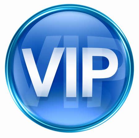 VIP icon blue, isolated on white background. Stock Photo - 2530847