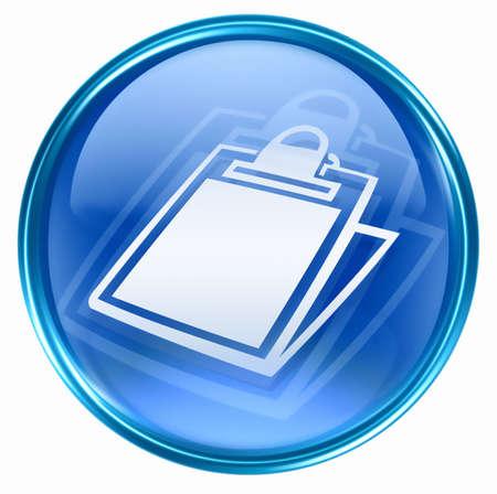 table icon blue, isolated on white background. Stock Photo - 2854942