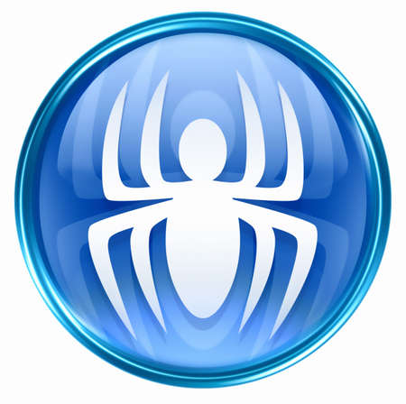 virus icon: Virus icon blue, isolated on white background. Stock Photo