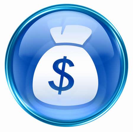 dollar icon blue, isolated on white background. Stock Photo - 2854920