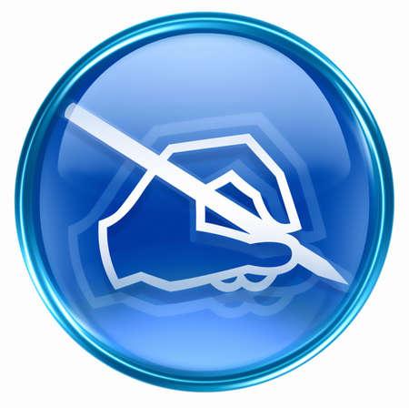 email icon blue, isolated on white background. photo