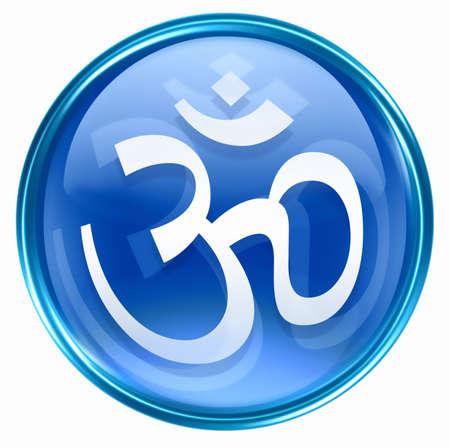 Om Symbol icon blue, isolated on white background. Stock Photo - 2875261