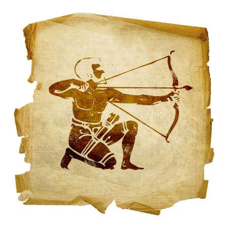 capricorn: Sagittarius zodiac icon, isolated on white background.