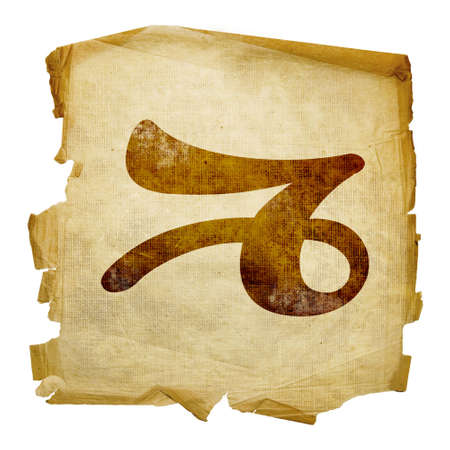Capricorn zodiac icon, isolated on white background. Stock Photo - 3061762