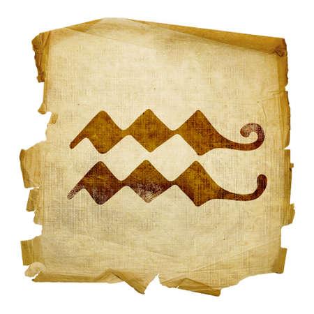 Aquarius zodiac icon, isolated on white background. photo