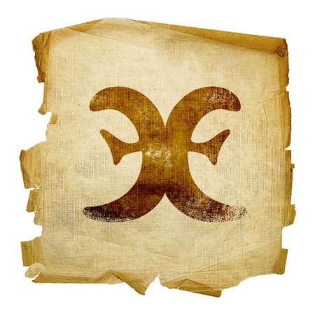 Pisces zodiac icon, isolated on white background. Stock Photo - 3061763