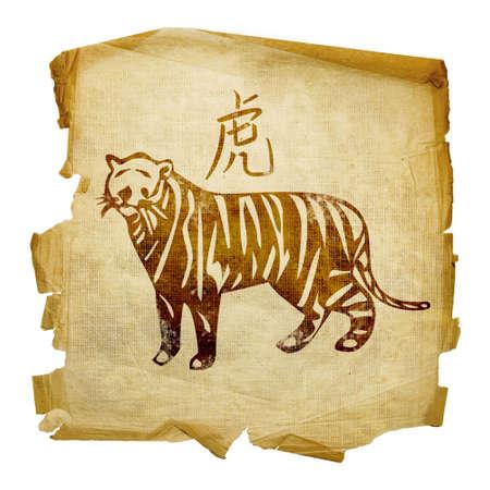 Tiger Zodiac icon, isolated on white background.