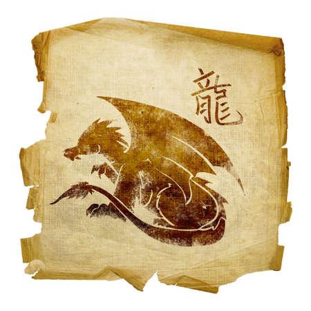 Dragon Zodiac icon, isolated on white background. Stock Photo