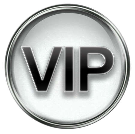 VIP icon grey, isolated on white background. Stock Photo - 3374266