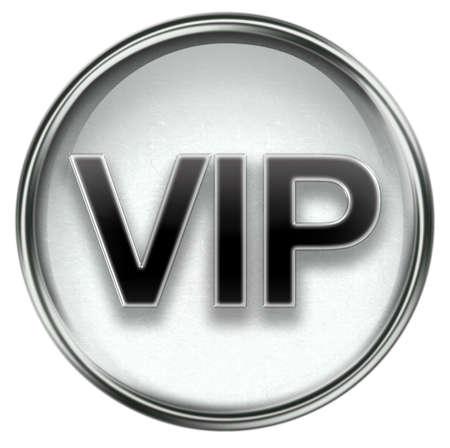 VIP icon grey, isolated on white background. Stock Photo - 3374266