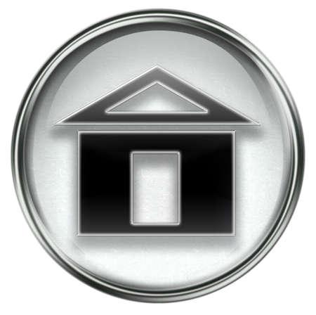 home icon grey, isolated on white background Stock Photo - 3374277