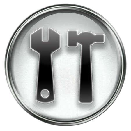 Tools icon grey, isolated on white background photo
