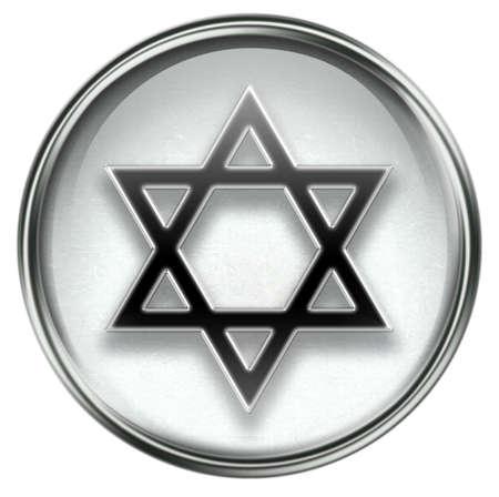 David star icon grey, isolated on white background. photo